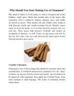 Why Should You Start Making Use of Cinnamon?