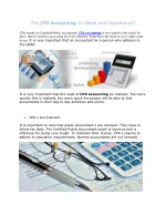 The CPA Accounting: Its Need and Importance