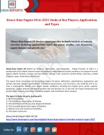 Heavy duty engine oil to 2021 study of keyplayers, applications and types