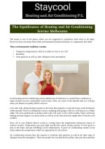 The Significance of Heating and Air Conditioning Service Melbourne