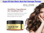 Argan Oil for frizzy & rough hair | Aria Starr Beauty
