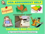 Assignment Expert Now Dial Toll Free :1-844-752-3111USA