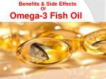 Omega 3 fish oil benefits and side effects