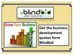 Get small business quotes from blindbid