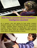 How Piano Lessons Boost Children's Intelligence Quotient