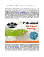 Hiring different types of home cleaning services at reasonable prices