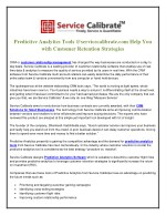 Predictive Analytics Tools @servicecalibrate.com Help You with Customer Retention Strategies