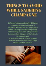 Sabering a Champagne Perfectly needs Practice