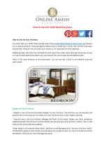 How to Care for Solid Wood Furniture