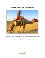 10 Things To Keep In Mind In Rajasthan Tour – Travelsite India