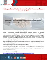 Mining analysis of market revenues, key sub sectors and market dyanamics to 2020