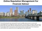 Online Reputation Management For Financial Advisor