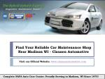 Find Reliable Car Maintenance Shop in Madison, WI