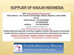 Supplier of kaolin Indonesia