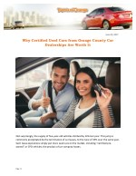 Why Certified Used Cars from Orange County Car Dealerships Are Worth It