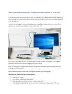 How to perform factory reset setting on brother printer to fix errors