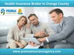 health insurance broker in Orange County