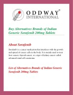 Sorafenib Tosylate 200mg Tablets | Anti Cancer Pharmaceutical Exporter In India