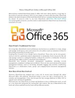 Role of SharePoint Online in Microsoft Office 365