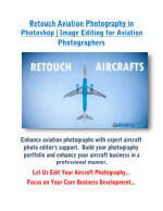 Retouch Aviation Photography in Photoshop | Image Editing for Aviation Photographers