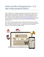 Largest Online Jewellery Store in India