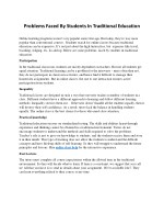 Problems Faced By Students In Traditional Education