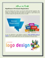 Significance Of Domain Registration