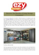 Discover The Benefits of Using Storage Containers!