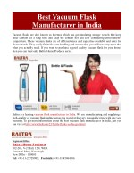 Best Vacuum Flask Manufacturer in India