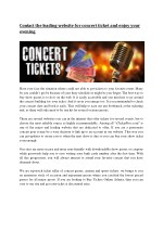 Cheap Concert Tickets Dallas