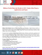 Military Textile Materials Market to 2021  Study of Keyplayers, Applications and Types