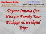 Best car hire services from delhi