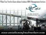 What You Need to Know About Aviation MRO Management Services