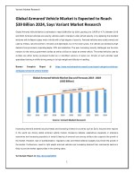 Global Armored Vehicle Market is Expected to Reach $39 Billion 2024, Says Variant Market Research