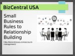 Small Business Rules to Relationship Building