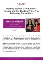 Healthy Secrets from Kareena Kapoor and Her Dietician? Are You Following These Diets