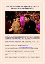 Find Destination Wedding Photographer in India at the Wedding Conteurs