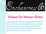 Dresses For Women Online