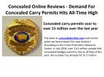 Concealed Online Reviews - Demand For Concealed Carry Permits Hits All-Time High