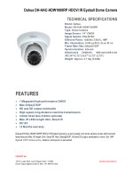 Features of Dahua DH-HAC-HDW1000RP HDCVI Dome CCTV Camara