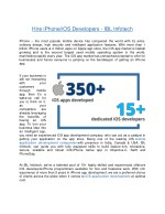 Hire dedicated iPhone/iOS app developers – IBL Infotech