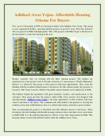 Adhikari awas yojna affordable housing scheme for buyers