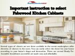 Important instruction to select Fabuwood Kitchen Cabinets