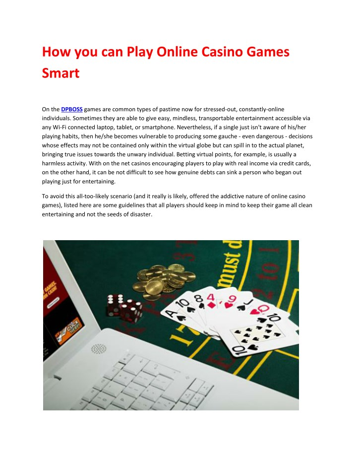 how you can play online casino games smart n.