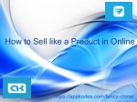 How to Sell like a Product in Online | Fantacy clone