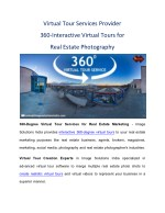 Virtual Tour Services Provider -360-Interactive Virtual Tours for Real Estate Photography