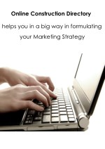Shape Your Next Marketing Strategy With Online Construction Directory