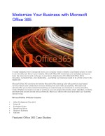Modernize Your Business with Microsoft Office 365