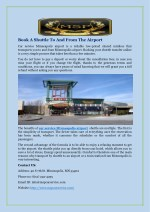 Book A Shuttle To And From The Airport