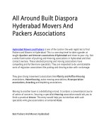 All Around Built Diaspora Hyderabad Movers And Packers Associations